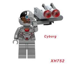Одна продажа Супер Герои кирпич вспышка киборг обратная вспышка Lex Лютор Лобо огненный шторм Бэтмен Гепард строительный блок(Китай)