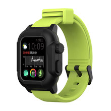 ПОГРУЖНОЙ водонепроницаемый спортивный чехол для Apple Watch, чехол для серии 4, 3, 2, силиконовый ремешок 44 мм, 42 мм, 40 мм, ударопрочный ремешок с ра...(Китай)