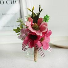Lovegrace шелковая мини-бутоньерка с подсолнухами Свадебные бутоньерки и бутоньерки женское платье Брошь Свадебный корсаж браслет Цветы(China)