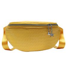 Модная Повседневная поясная сумка из искусственной кожи, Женская поясная сумка, Женская нагрудная сумка на молнии, многофункциональный кош...(Китай)