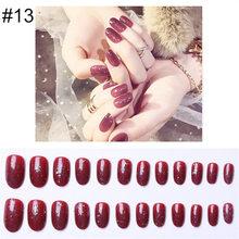 PinPai 24 шт многоразовые полностью покрывающие матовые блестящие накладные ногти советы для декорирования шпильки дизайн пресс на ногти иску...(Китай)