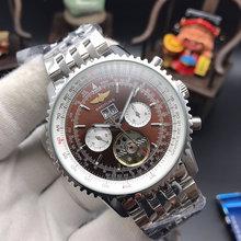 Часы Breitling мужские, механические, кварцевые, с ремешком из нержавеющей стали, 2020(Китай)