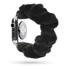 Женский эластичный ремешок для часов Apple Watch 38 мм/40 мм 42 мм/44 мм, повседневный браслет для женщин и девушек iwatch series(China)