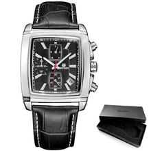 MEGIR Новые повседневные брендовые часы, мужские популярные модные спортивные наручные часы, мужские хронограф, кожаные часы для мужчин, свет...(Китай)