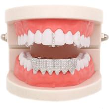 Ледяной зуб золотого цвета для Wio, мужские колпачки с верхним дном и кристаллами для рта, накладные зубные колпачки для вечерние украшения д...(Китай)