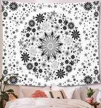 Большой индийский гобелен мандалы 229x150 см, богемное пляжное полотенце, тонкое полиэфирное одеяло, коврик для йоги, шаль, простыня(Китай)