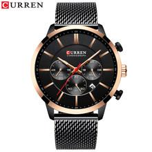 Новинка 2019 года CURREN Мужские часы, хронограф кварцевые деловые мужские часы лучший бренд класса люкс водостойкие наруч(Китай)