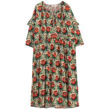 Женское платье с принтом EAM, длинное платье большого размера с рукавом три четверти и круглым вырезом, весна-лето 2020, 1U760(Китай)