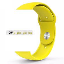 Мягкий силиконовый ремешок для Apple watch 42 38 мм для iwatch 5 4 3 2 сменный ремешок для браслета 44 для iwatch 4 3 40 мм(Китай)