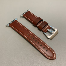 Ремешок для часов, из натуральной кожи, для Apple Watch 1/2/3/4/5, 38/40/42/44 мм(Китай)