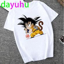 Футболка Dragon Ball Kawaii, футболка Super Saiyan Dragonball Z мультфильм забавная Футболка Harajuku Аниме Мужчины Японский Гоку забавная футболка(Китай)