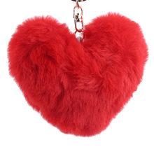 Сплошной цвет любовь плюшевый шар Металлический плюшевый брелок, подвеска для машины девушка ключ орнамент Девушки Подарки одежда аксессу...(Китай)