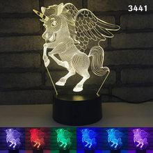 Слон, олень, фея, тигр, животное, светодиодный 3d-ночник, украшение дома, люминеры, ребенок, подарок на день рождения, ночной Настольный светил...(Китай)
