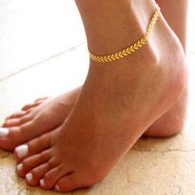 Браслет на ногу, золотой цвет, сердце, любовь, подарок, лето, ювелирное изделие, опт, браслет на ногу, бижутерия, новинка 2020, панк(Китай)