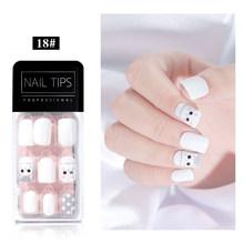 Корейский стиль накладные ногти носить ногтей съемные французские балерины накладные ногти ультра-тонкие без следов патчи для ногтей, мани...(Китай)