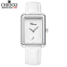2020 новые женские часы люксовый бренд CHENXI кожаный и стальной ремешок водонепроницаемые часы простые кварцевые наручные часы Montre Femme(China)