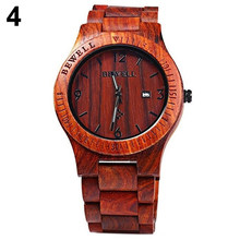 Мужские Роскошные часы из натурального клена, деревянные кварцевые часы ручной работы, мужские повседневные наручные часы montre homme, мужские ...(Китай)