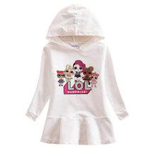 Детские пижамы LOL ночная рубашка для девочек домашняя одежда для сна для девочек летние платья хлопковое платье принцессы Lol Doll 2020(Китай)