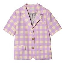 Женский блейзер с отложным воротником [EAM], свободный пиджак с коротким рукавом, весна-осень 2020, 1Y245(Китай)