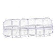 Акриловый прозрачный органайзер для макияжа с несколькими сетками, Коробка Для Хранения Крема, лака, губной помады, органайзер для ногтей, ш...(Китай)