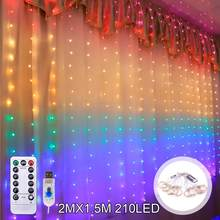 USB светильник, занавеска, сказочный струнный светильник s, Рождественский Декор для дома, Рождественский натальный Декор 2020, новый год, 2021, ...(Китай)