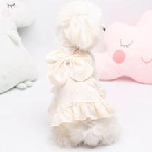 Милое платье с бантом для собак, платье на бретельках для щенков, одежда для собак, одежда принцессы для собак, одежда для маленьких собак, Св...(China)