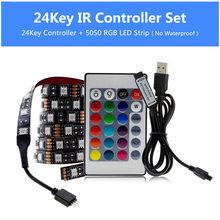 USB Светодиодная лента 5050 RGB переменчивый диодной ленты 5V 50см 1M 2M 3M 4M 5М DIY Гибкие RGB LED ленты для ПК экрана телевизора Подсветка(Китай)