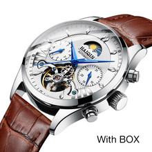 Мужские наручные часы HAIQIN, новые автоматические механические водонепроницаемые часы с турбийоном, 2019(Китай)