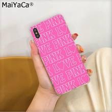 MaiYaCa Розовый Новый любовь розовый Леопардовый ТПУ чехол для телефона Fundas чехол для Apple iphone 11 pro 8 7 66S Plus X XS MAX 5s SE XR(Китай)
