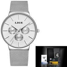 Женские сверхтонкие наручные часы из нержавеющей стали LIGE, роскошные повседневные кварцевые часы, Relogio Feminino, 2020(China)