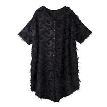 Женское платье с кисточками EAM, платье большого размера с капюшоном и рукавом три четверти, свободный крой, весна-лето 2020 1T15901(Китай)