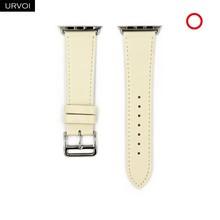 URVOI Single Tour band для apple watch series 5 4 3 2 1 Swift кожаный ремешок для iWatch Наручные Классические ручной работы 2020 noir 40 44 мм(Китай)