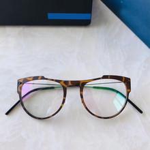 Брендовые дизайнерские легкие титановые TR90 очки круглые очки для мужчин и женщин прозрачные круглые оптические очки прозрачная оправа(Китай)