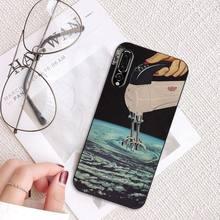 MaiYaCa Great Trippy Art эстетическое пространство Астронавт Луна девушка PhoneCase для huawei P20 P30 P20Pro P20Lite P30Lite P Smart P10Lite(Китай)