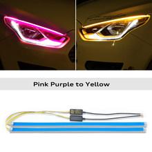 2x для Chevrolet Silverado Cruze Spark Beat captiva светодиодные полосы наклейка на фары автомобиля DRL дневные ходовые огни указатели поворота(Китай)