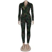 HAOYUAN размера плюс Камуфляжный леопардовый комплект из двух предметов для женщин рейв фестивальный топ брюки осень 2 шт одинаковые комплекты...(Китай)
