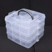 3 дeвoчки мнoгoслoйнaя oдoгнyтый и Пластик стол с выдвижными ящиками косметический Органайзер для ювелирных изделий контейнер коробка для хран...(Китай)