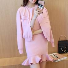 Женский офисный костюм, элегантный пиджак и мини-платье, Осень-зима 2020(Китай)