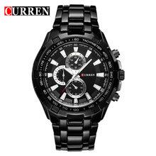 Лидирующий бренд, роскошные полностью стальные часы, мужские спортивные деловые повседневные кварцевые наручные часы, военные наручные ча...(Китай)