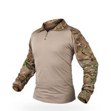Наружная многофункциональная тактическая камуфляжная униформа, боевая рубашка- (RG) XXL(Китай)
