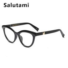 Оправа для очков, красная леопардовая оправа для женщин, роскошные брендовые круглые прозрачные очки кошачий глаз, женские элегантные проз...(Китай)