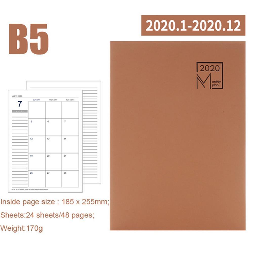 2020 Тетрадь книжка Дневник планировщик еженедельник 2020 ежедневно для планирования расписания Новое поступление милый планировщик(Китай)