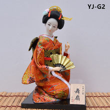 MYBLUE 30 см Kawaii кимоно японской гейши кукла Японский дом декоративная фигурка украшение для дома аксессуары для комнаты Mordern(Китай)