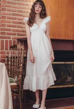 Осенняя Пижама 2020, сексуальная белая хлопковая ночная рубашка с v-образным вырезом, Женская домашняя одежда, ночная сорочка, Дамское ночное ...(Китай)