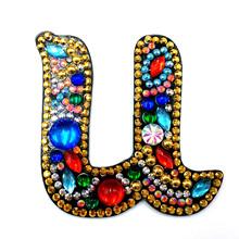 Huacan 5D алмазная картина брелок буквы специальная форма картина из мозаики и бриллиантов аксессуары брелок любовь(Китай)