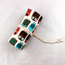 Kawaii 36/48/72 отверстий, Сумочка для ручек и карандашей чехол, сумка для кошачьей ручки, холщовая упаковка, рулонный занавес, канцелярские принад...(Китай)