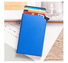 Умный кошелек ZOVYVOL RFID с защитой от кражи, тонкий чехол для ID-карты, унисекс автоматически однотонный металлический держатель для кредитной к...(Китай)
