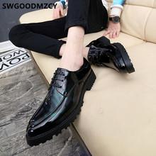 Свадебная обувь для мужчин; 2020; Обувь из лакированной кожи; Мужские официальные платья; Итальянский бренд; Элегантная обувь; Мужские Классич...(China)