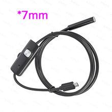 KERUI мини эндоскоп камера 7 мм/5,5 мм USB камера для Android эндоскоп Инспекционная камера бороскоп Водонепроницаемый 6 светодиодов регулируемый(Китай)