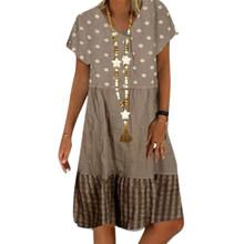 VICABO 28 стилей летнее платье 2020 размера плюс повседневная женская одежда Лоскутные Печатные Свободные Платья вечерние винтажные платья # w(Китай)